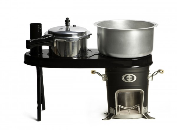 SuperSaver GL Wood Cookstove with Double Pot Attachment
