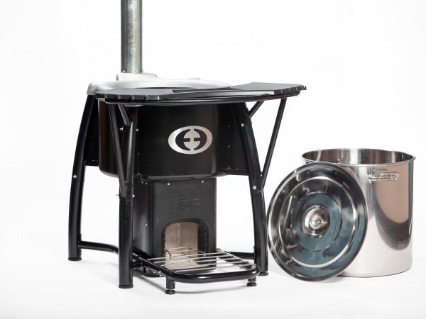 SaverPro 100 Wood Stove with Cooking Pot