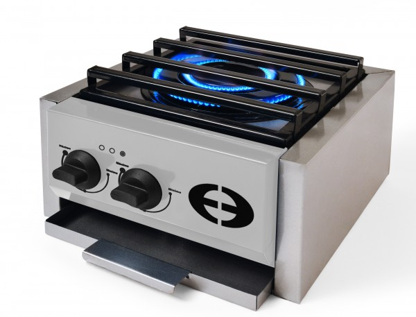 PureFlame LPG Single Burner Stove (Silver)