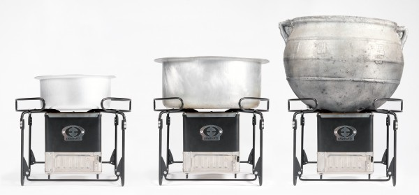 SmartSaver Charcoal Stove with Triple Pots