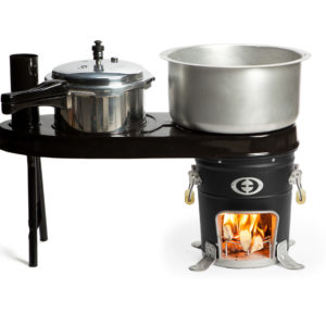 Double Pot Attachment with SuperSaver GL Wood Cookstove
