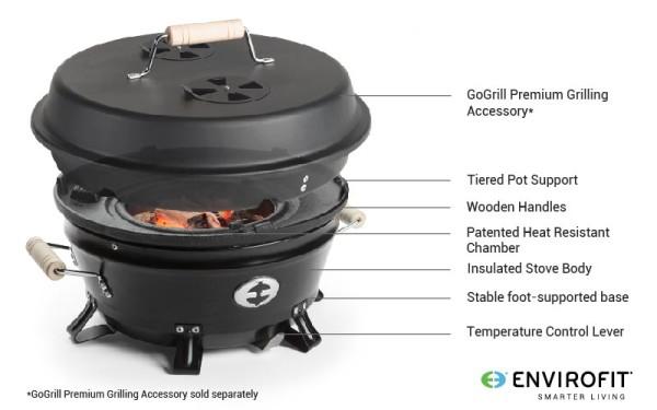 Envirofit GoGrill Saver Cookstove Features