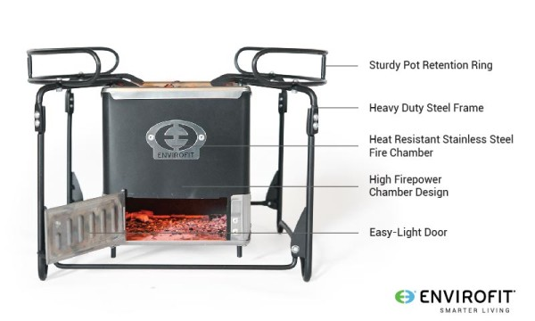 Envirofit SmartSmaver Charcoal Grill Features