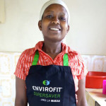 Envirofit customer Mama Baraka in her kitchen in Nairobi