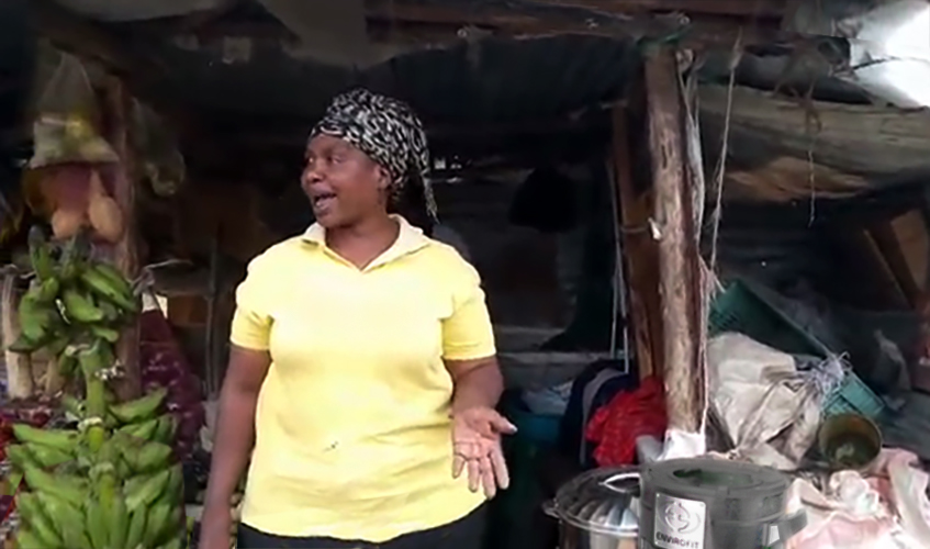 Envirofit customer Margaret Atieno with SuperSaver Charcoal stove