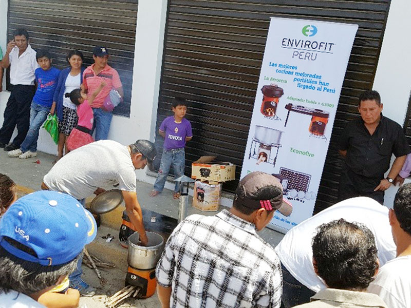 Envirofit cookstove demonstration in Peru