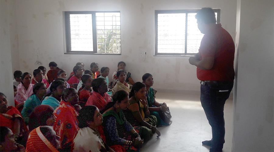 Women attend an Envirofit Village-Level Entrepreneur class