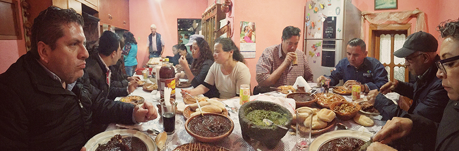 Traditional mole dinner in Genoveva's kitchen