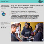 Women participate in sales and entrepreneurial activities with Envirofit in Kenya